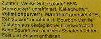 Vanille-Schoko-Mandeln - Inhaltsstoffe