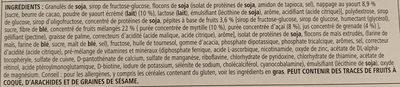 Barre repas équilibre - Ingredients - fr