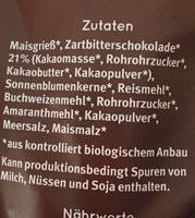 Knusper Frühstück - Zartbitter - Ingredienti - fr