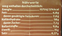 Müzli Schokozart Dinkel - Informations nutritionnelles - de