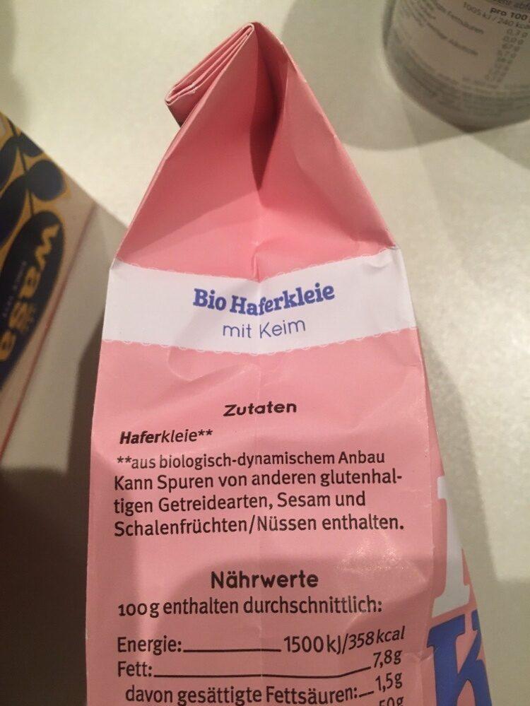 Hafer Kleie - Ingredienti - de