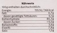 Mais Paniermehl - Nutrition facts - de