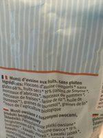 Hafermüsli Früchte,Ungesüßt - Ingrédients - fr