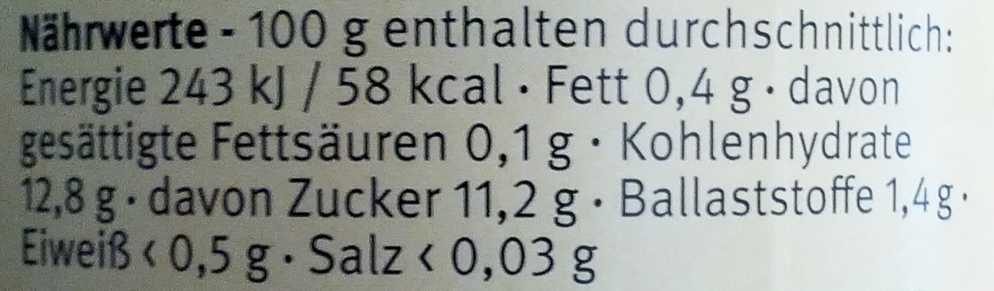 Apfel-Banane - Nutrition facts