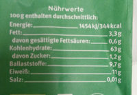 6-Korn Flocken - Nutrition facts - de