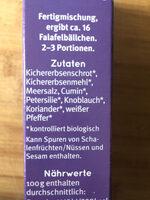 Falafel - Zutaten - de