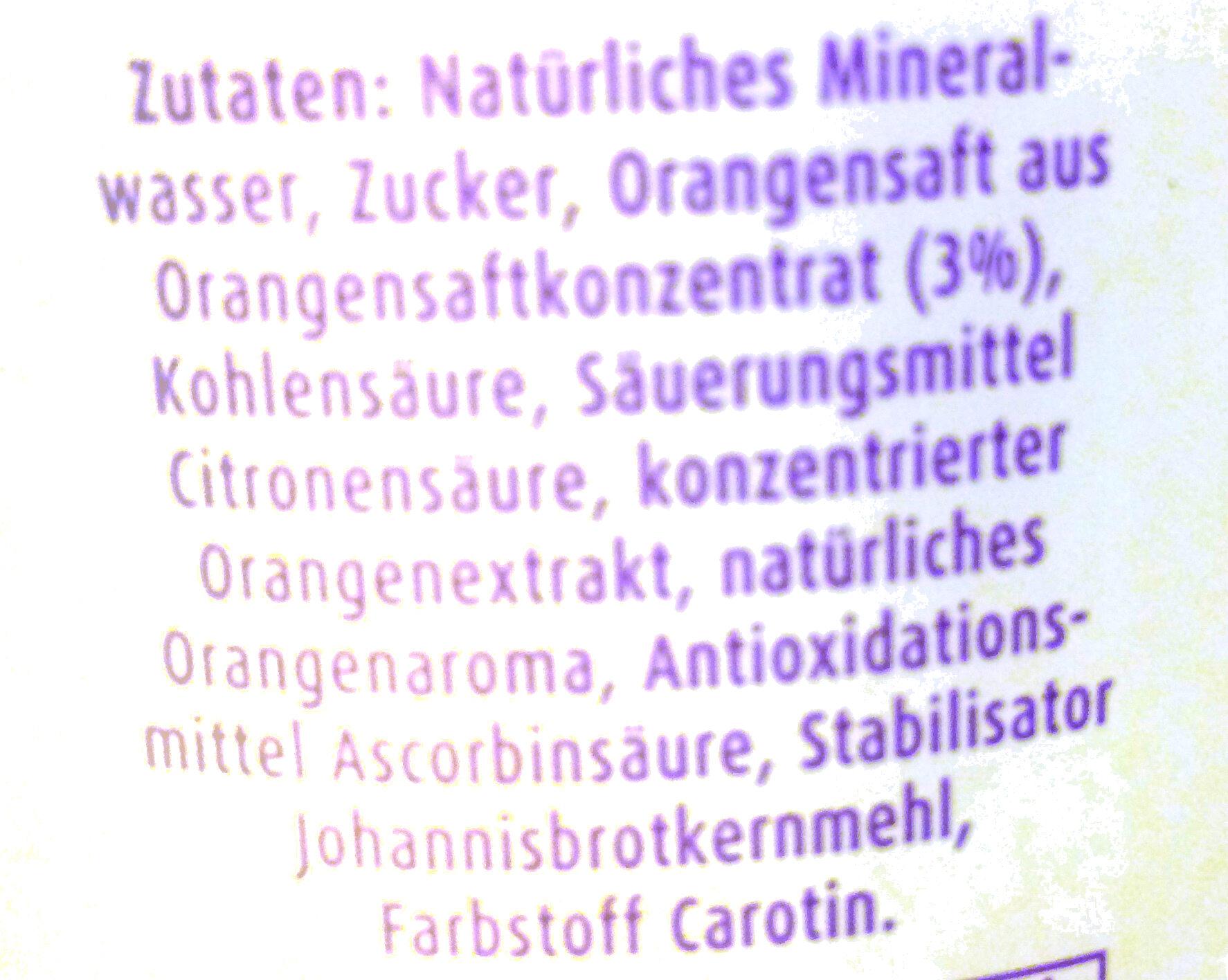 SpreeQuell Orangenlimo - Ingrediënten