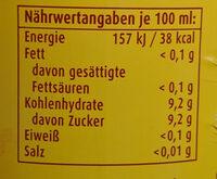 SpreeQuell Orangenlimo - Voedingswaarden