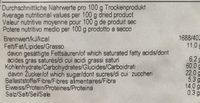 Muesli Énergétique au Peronin et Fruits - Valori nutrizionali - fr