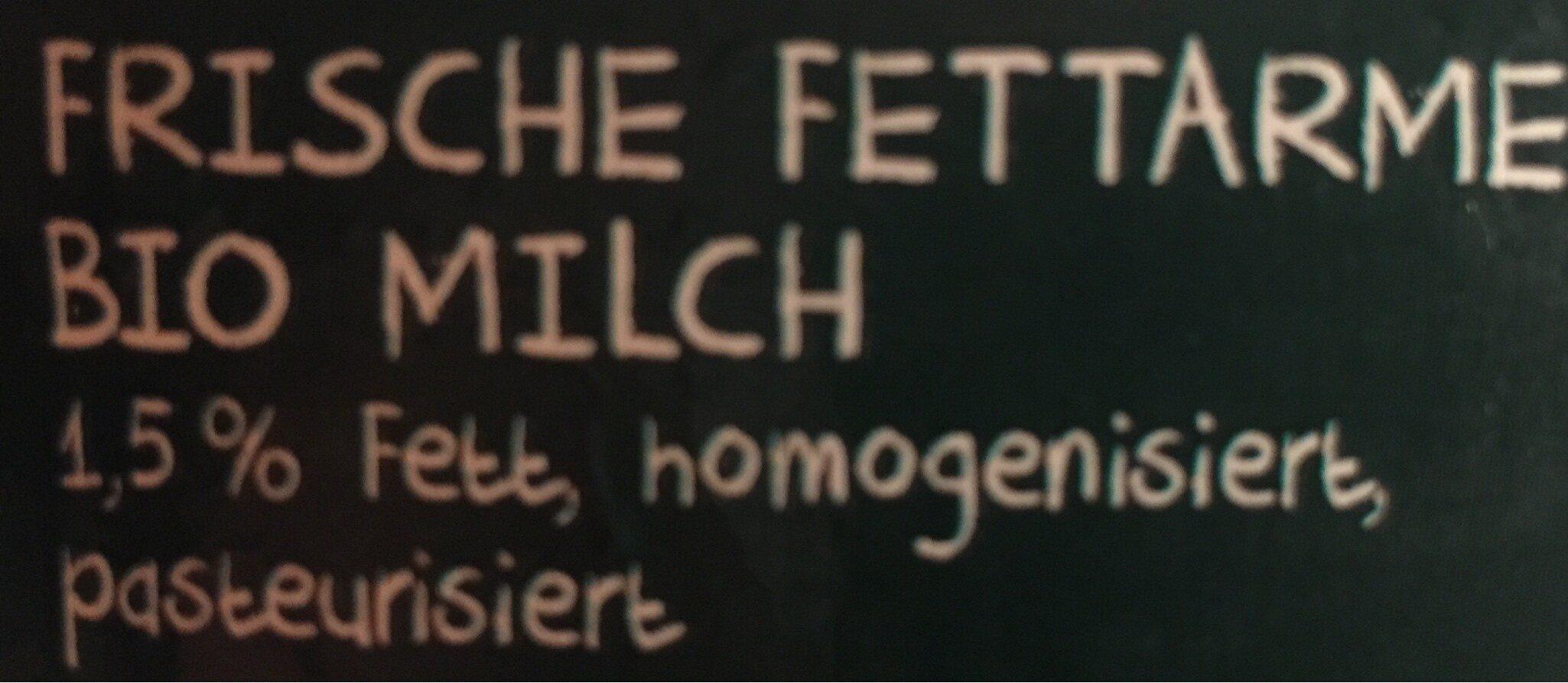 Frische Weidemilch🌳 1.5% Fett - Ingrediënten - de