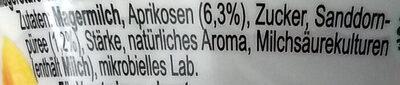 Skyr Aprikose-Sanddornbeere - Ingrediënten - de
