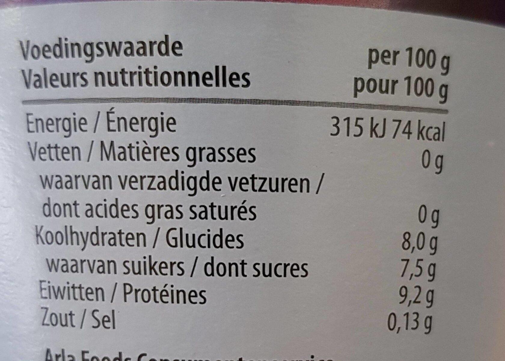 Yoghourt - Informations nutritionnelles - fr