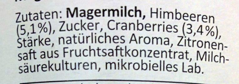 Skyr Himbeere-Cranberry - Ingrediënten - de