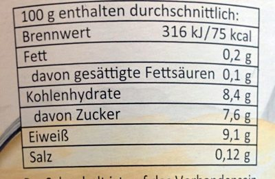 Skyr Honig - Voedingswaarden