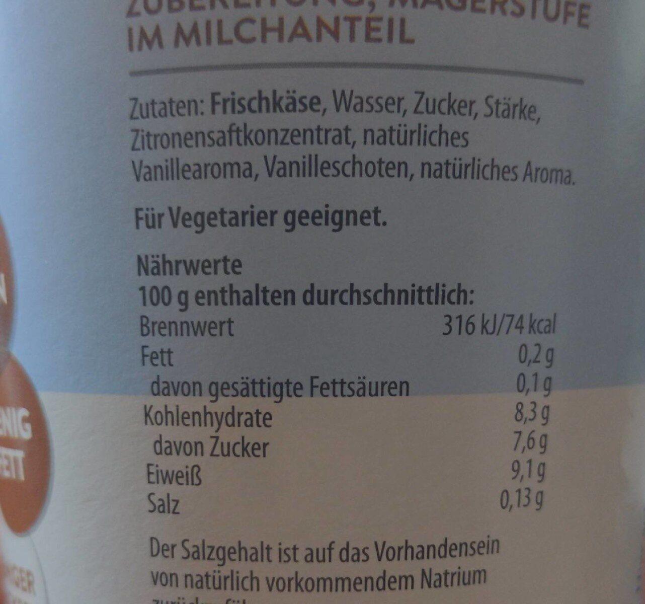 Skyr Vanille - Voedingswaarden - de