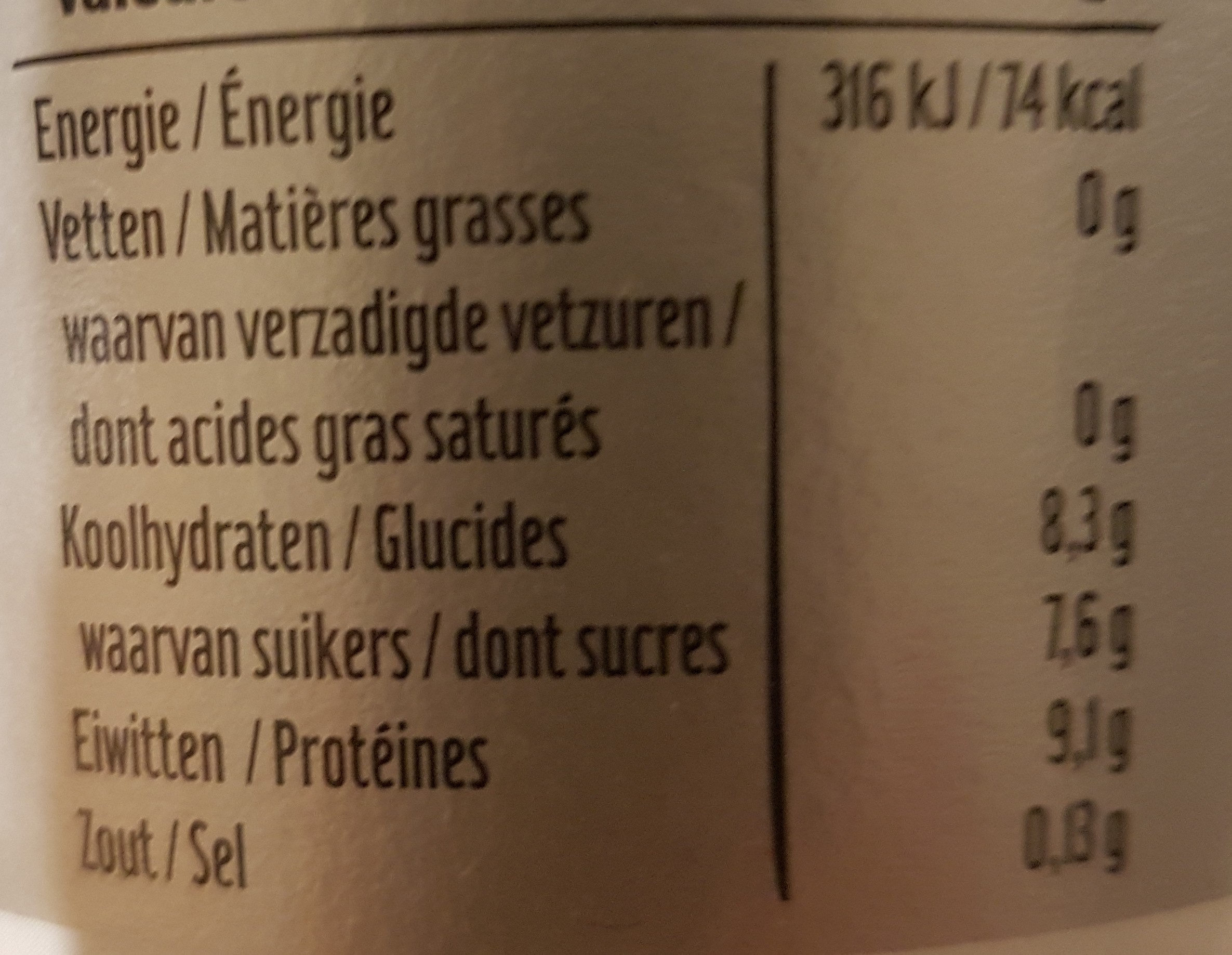 Skyr - Nutrition facts - fr
