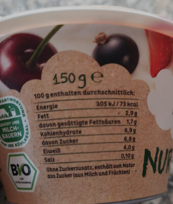 Bio but rote fruchte - Informations nutritionnelles