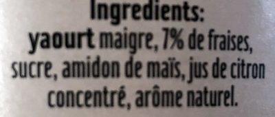 Skyr fraise - Ingrediënten - fr