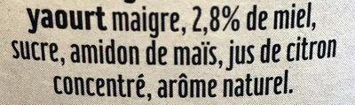 Skyr Miel - Ingrediënten - fr