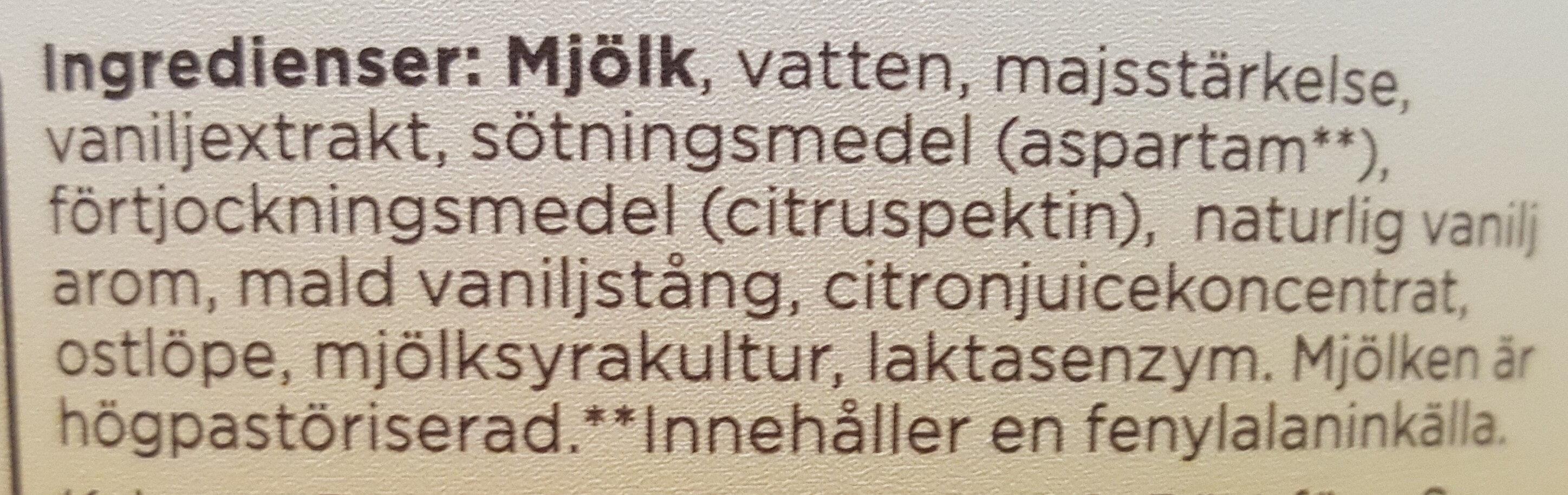 Mild kvarg vanilj - Ingredients