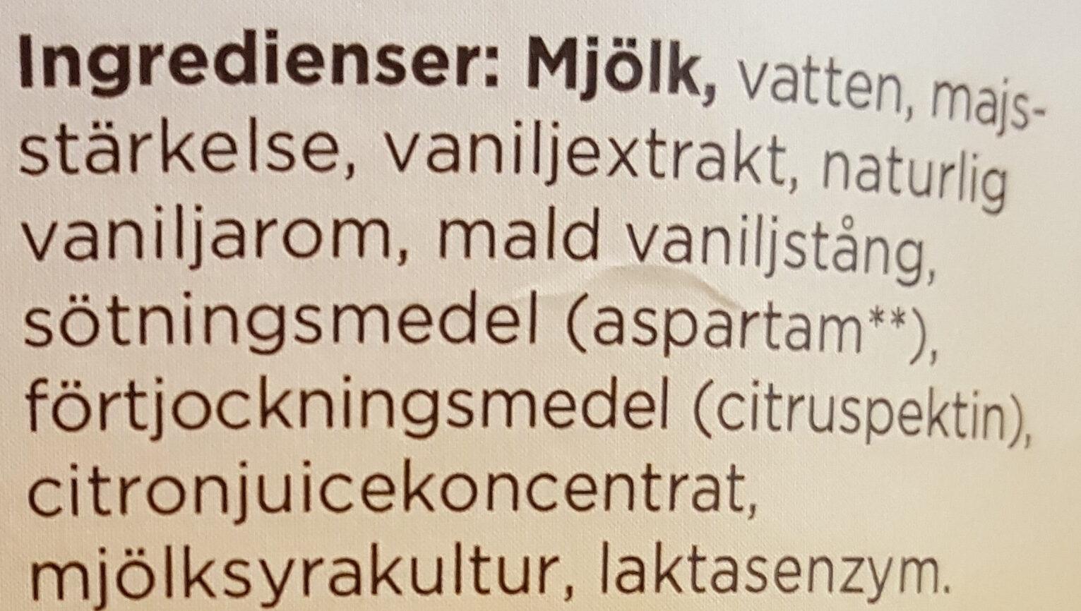 Mild Kvarg - Vanilj - Ingrédients - sv