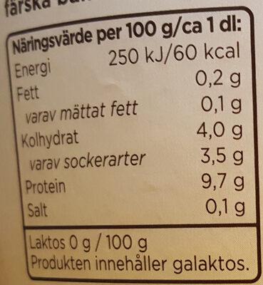 Mild Kvarg - Vanilj - Informations nutritionnelles - sv