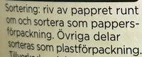 Mild Kvarg - Vanilj - Instruction de recyclage et/ou informations d'emballage - sv