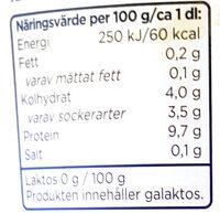 Mild Kvarg - Vanilj - Laktosfri - Informations nutritionnelles - sv