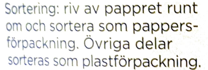 Mild Kvarg - Vanilj - Laktosfri - Instruction de recyclage et/ou informations d'emballage - sv