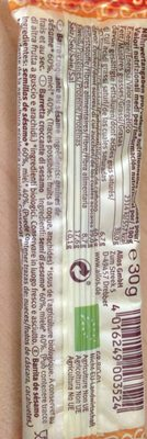 Barre Croquante Au Sesame - Ingredientes