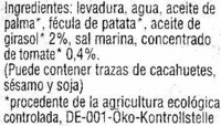 Paté vegetal ecológico Classico - Ingredients - es