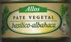 """Paté vegetal ecológico """"Allos"""" Basilico-Albahaca - Producto"""