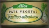 "Paté vegetal ecológico ""Allos"" Basilico-Albahaca - Produit"
