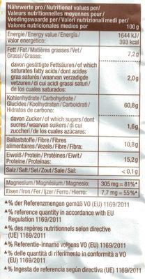 Flocken: Amaranth Poppkorn - Informations nutritionnelles - de