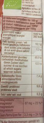 Crunch beerenfrucht - Muesli croustillant aux fruits rouges et à l'amarante - Voedingswaarden - fr