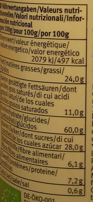 Duetto Kakao - Nutrition facts - fr