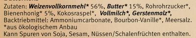 Butterkeks - Inhaltsstoffe - de