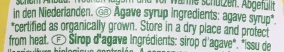 Sirop d'agave pur - Ingredients