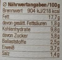 Hof-Gemuse - Nährwertangaben