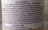 Crème végétale trio poivrons - Ingredients