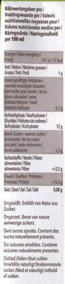 Reis drink - Informations nutritionnelles