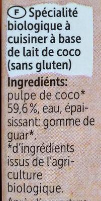 Allos Kokos Cuisine - Ingrédients - fr