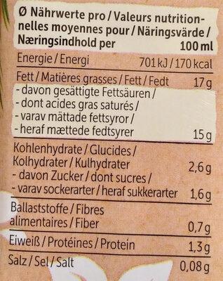 Allos Kokos Cuisine - Informations nutritionnelles - fr