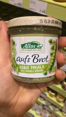 Allos Auf´s Brot Erbse Masala, 140 GR Glas - Product