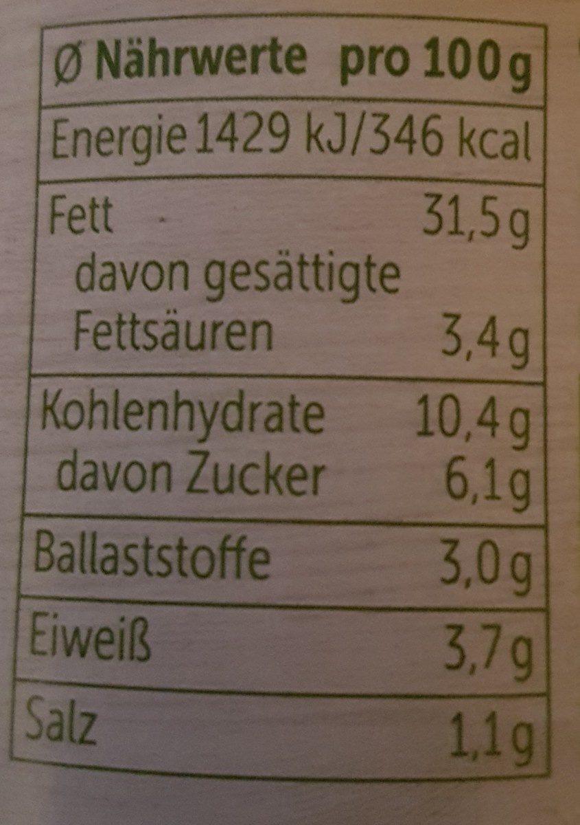 Allos Auf´s Brot Erbse Masala, 140 GR Glas - Ingredients