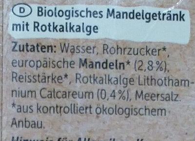 Mandel Drink + Calcium - Ingredients - de