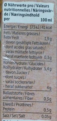 Mandel Drink + Calcium - Nutrition facts - de