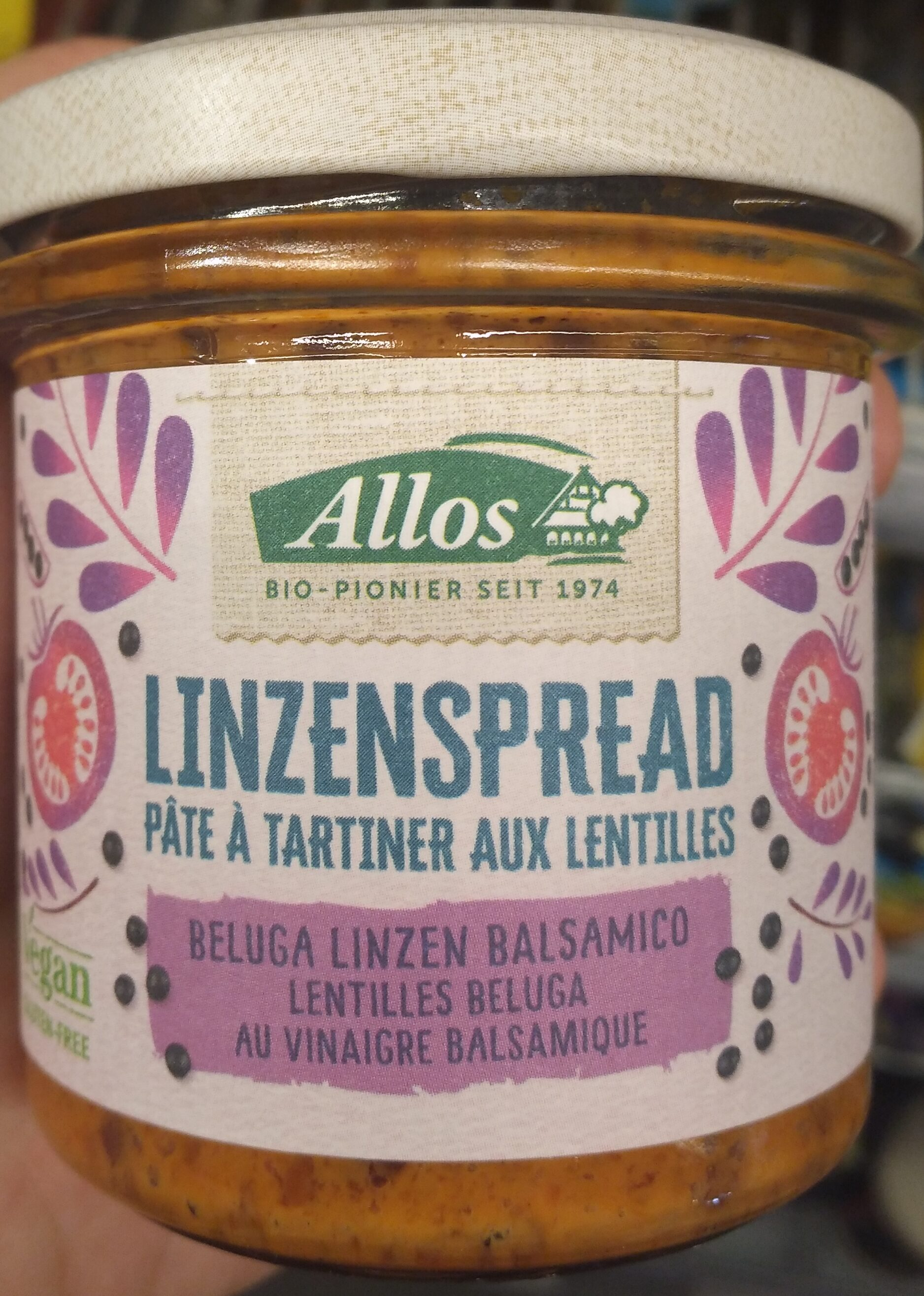 Pâte à tartiner aux lentilles béluga - vinaigre balsamique - Product - nl