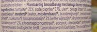 Pâte à tartiner aux lentilles béluga - vinaigre balsamique - Ingredients - nl
