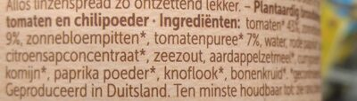 Pâte à tartiner aux lentilles - Ingrediënten - nl